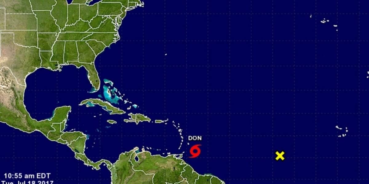 Tormenta tropical Don se debilita en su avance en el Caribe