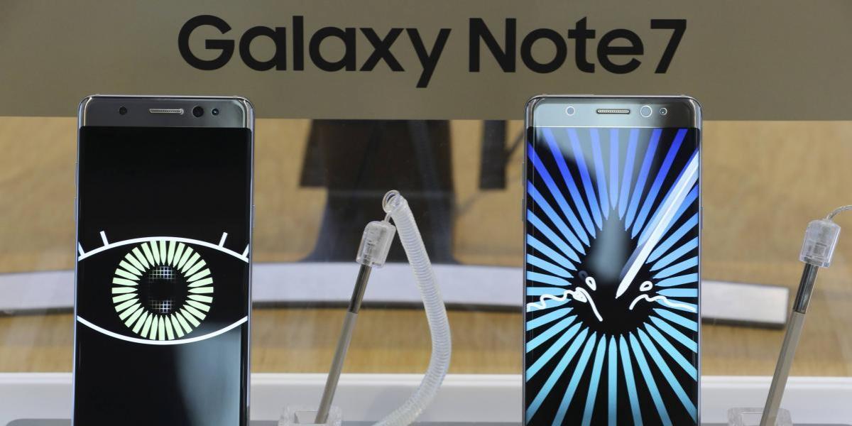 Samsung recuperará componentes de Galaxy Note 7