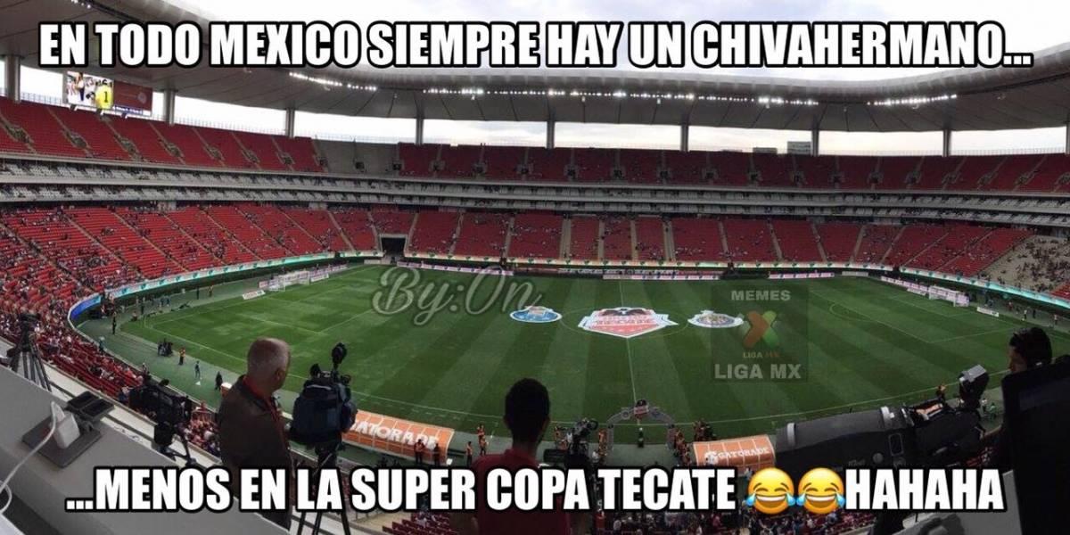 Con memes se burlan de la poca asistencia al Chivas vs Porto