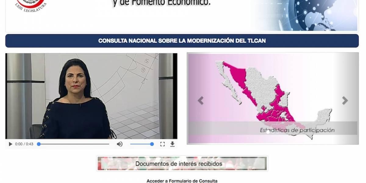 Mexicanos pueden participar en consulta sobre negociación del TLCAN
