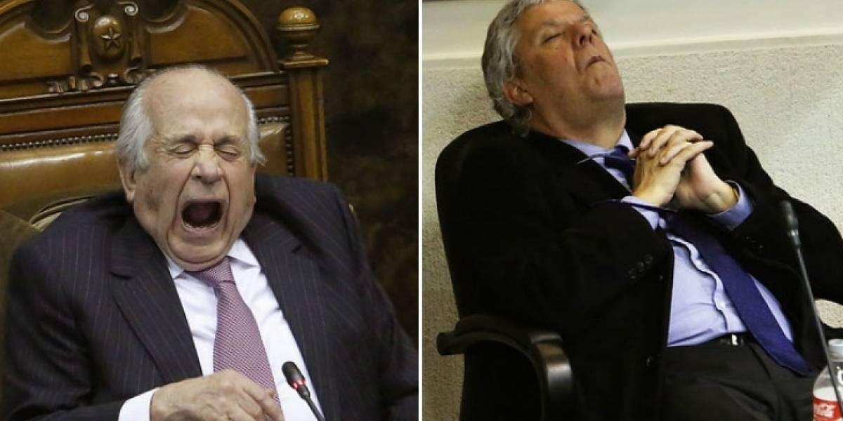 Durmiendo, bostezando y comiendo: así fueron las 16 horas en donde los senadores despenalizaron el aborto