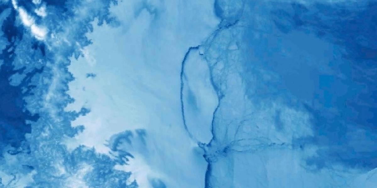 Científicos revelan formación de nuevos iceberg en zona de quiebre de monumental bloque de hielo en la Antártica