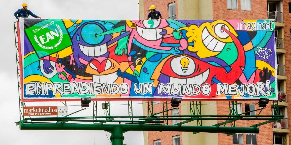 Arte urbano por Bogotá: el origen de las vallas que dan de qué hablar en el norte de la ciudad