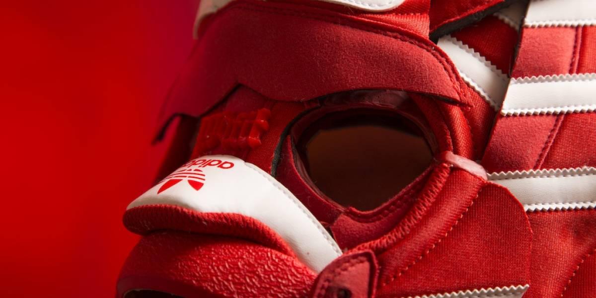 Adidas Originals presentó una innovadora exposición de máscaras hechas con sneakers
