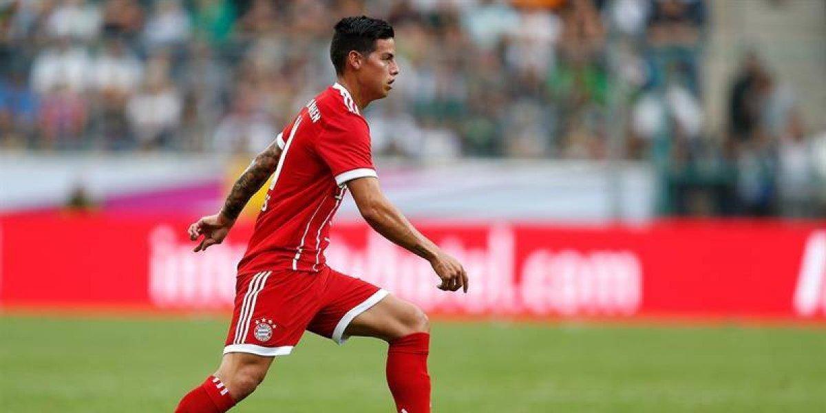 James Rodríguez, por primera vez titular en el Bayern, de manera oficial