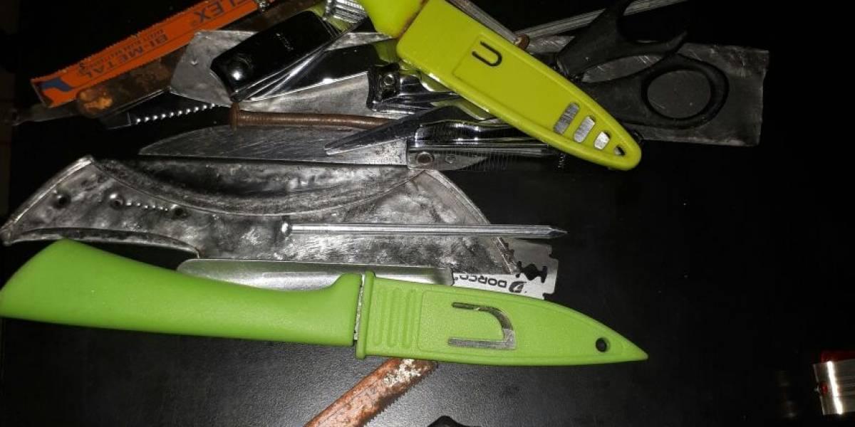 Decomisan droga y otros objetos ilícitos en requisa en cárcel El Infiernito