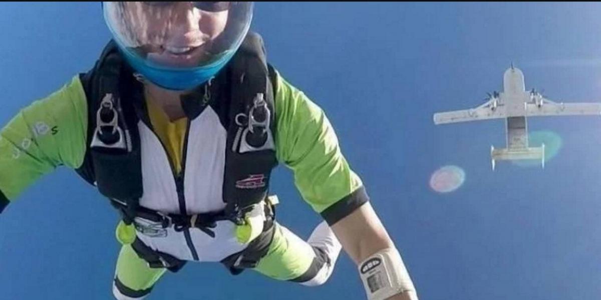 No abriré el paracaídas: hombre le anuncia a su esposa que se quitará la vida