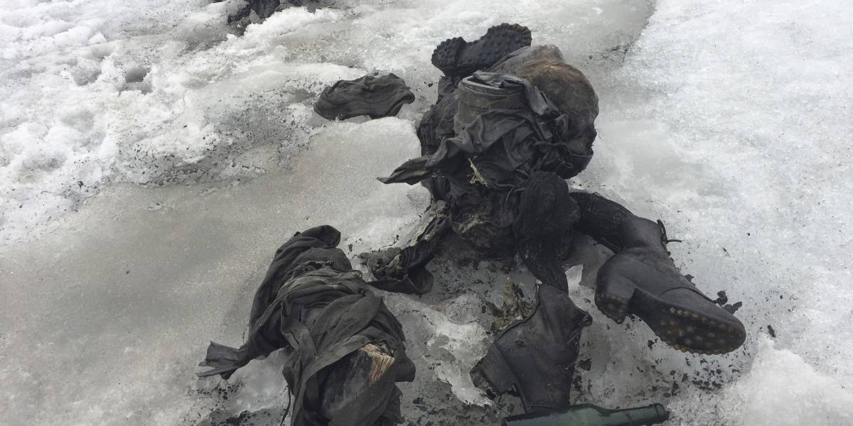 Cadáveres encontrados en glaciar son de pareja desaparecida en 1942