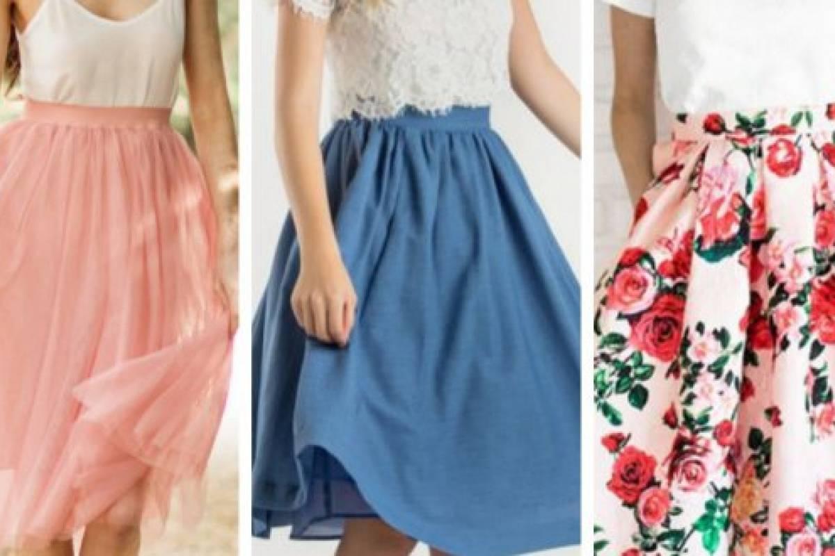 Tendencias de moda en primavera-verano  Estilos de falda midi y cómo ... cc98332505fa