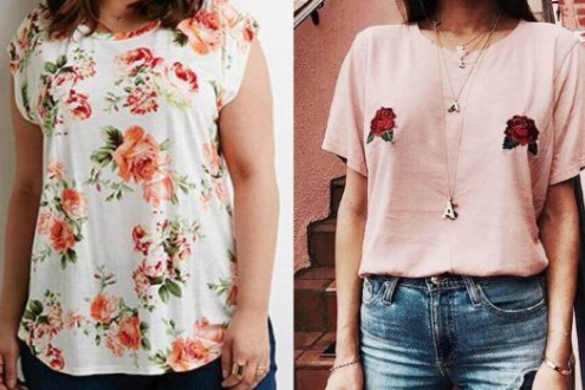 Tendencias de moda  estampados de rosas en playeras bb7299cc6bad