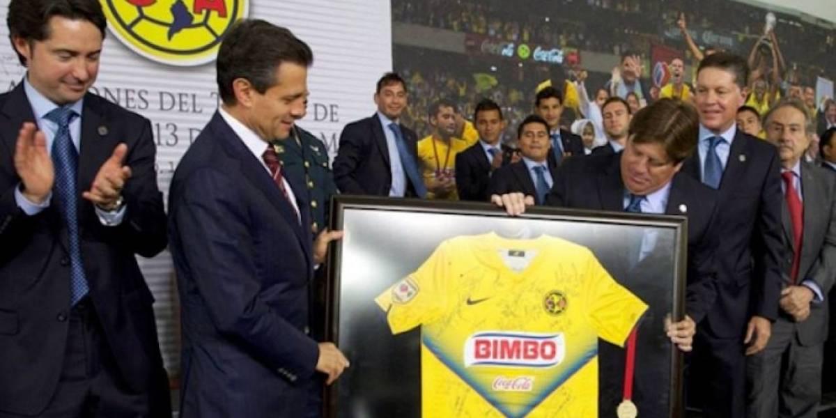 ¡Feliz cumpleaños! El Presidente EPN, un verdadero aficionado del América