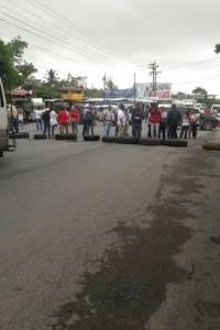 Trabajadores del Ministerio de Salud realizan manifestación.