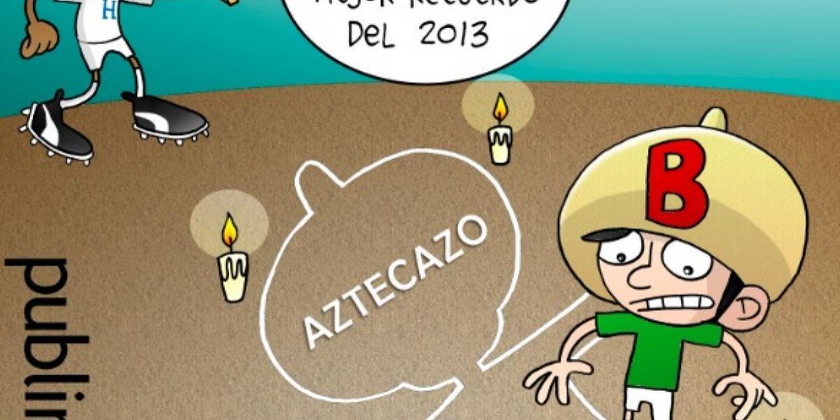 El recuerdo del 'aztecazo' de Honduras, en el cartón del día