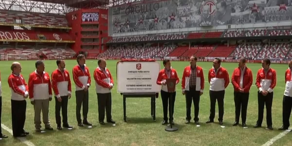 Peña Nieto inaugura el Estadio Nemesio Diez en Toluca