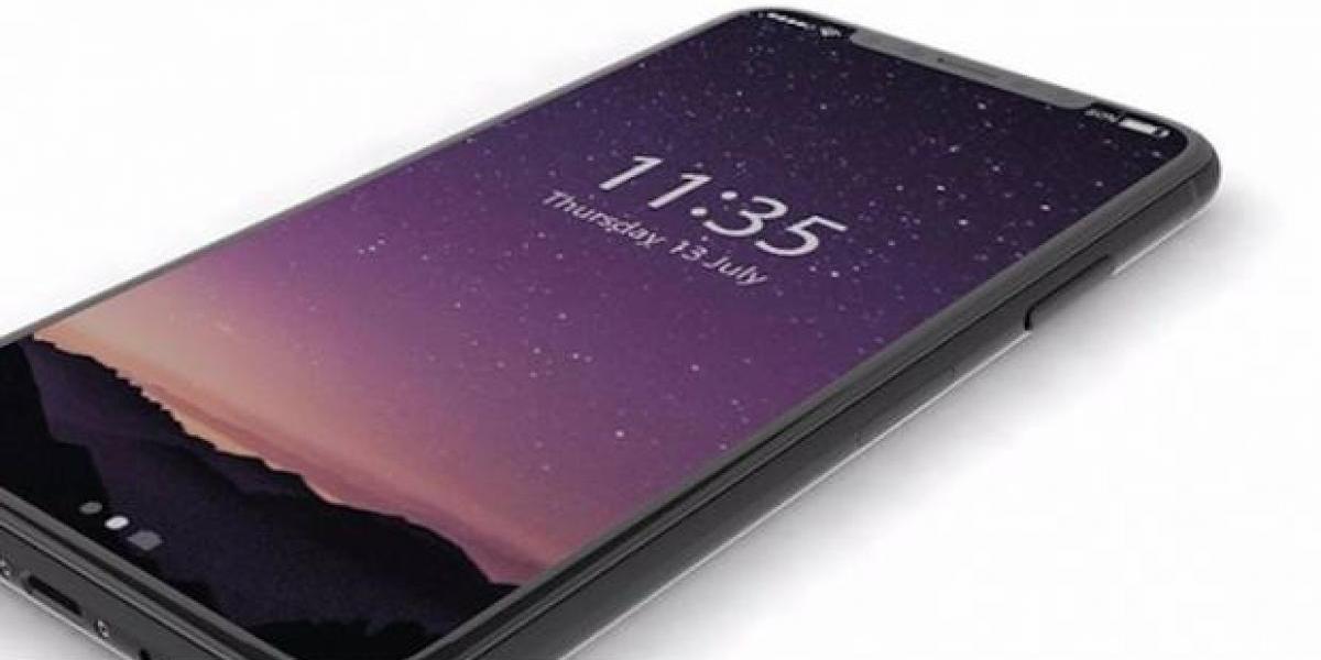 Así luciría el iPhone 8 con la pantalla encendida