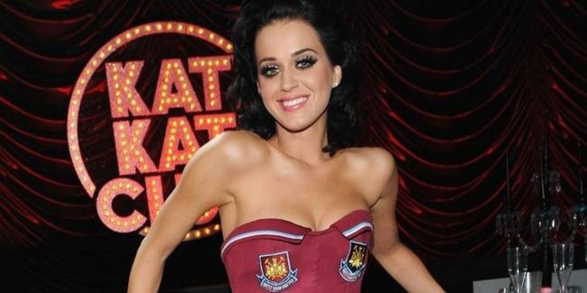 Katy Perry, bella fan del West Ham United