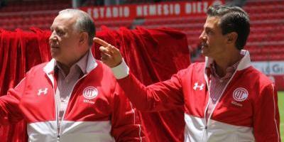 Peña Nieto pide un título al Toluca