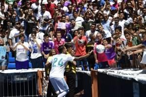 Dani Ceballos en su presentación con el Real Madrid