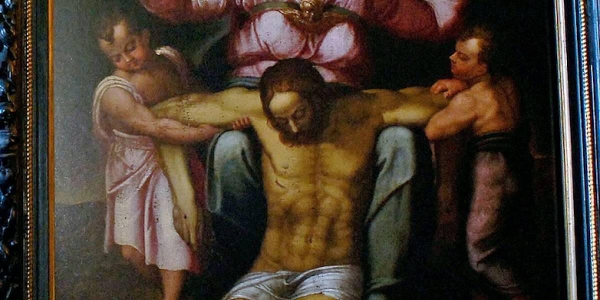 Hombre cree tener cuadro de Miguel Ángel en la sala de su casa