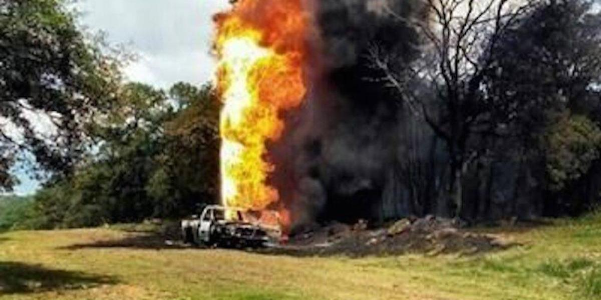 Explosión en toma clandestina de Hidalgo deja dos heridos