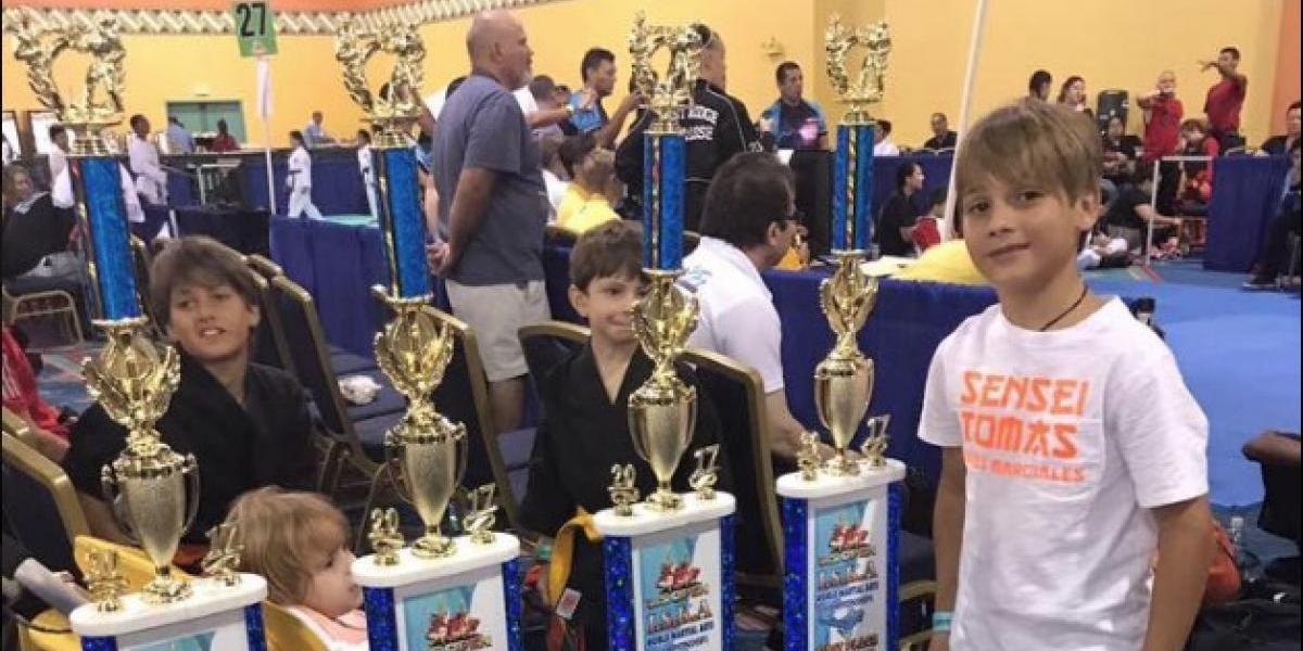 Liam, el pequeño karateca guatemalteco que triunfa como los grandes