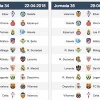 Calendario completo La Liga