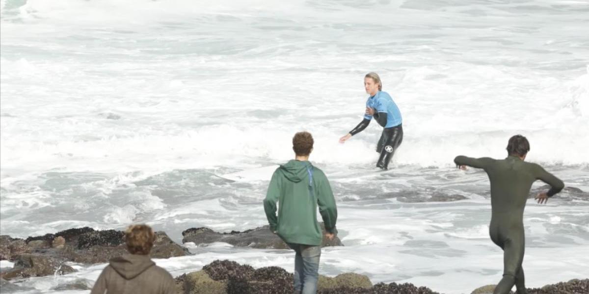 El Gringo mostró su agresividad y dejó a un surfista con luxación de hombro