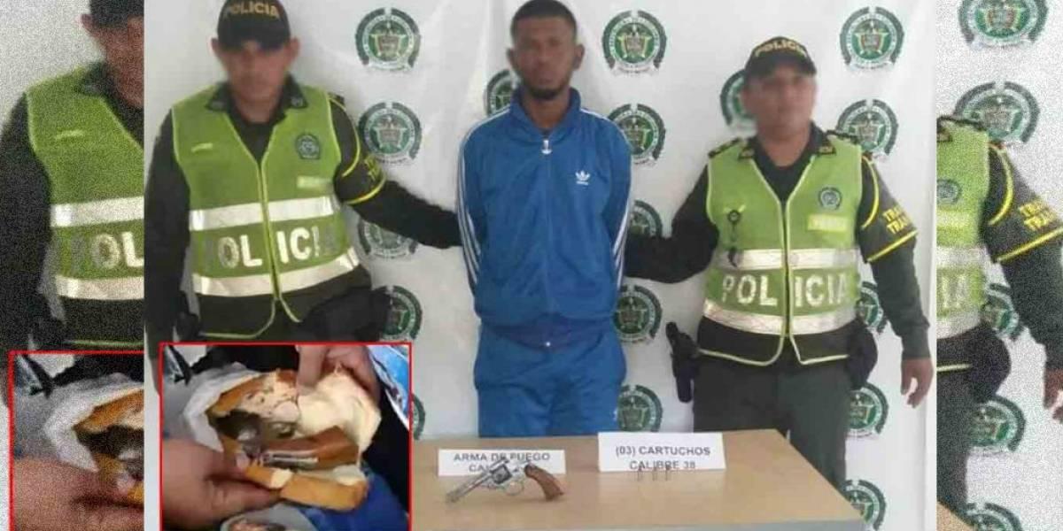 Capturan a un hombre que portaba un 'sándwich de revolver' en un bus interdepartamental