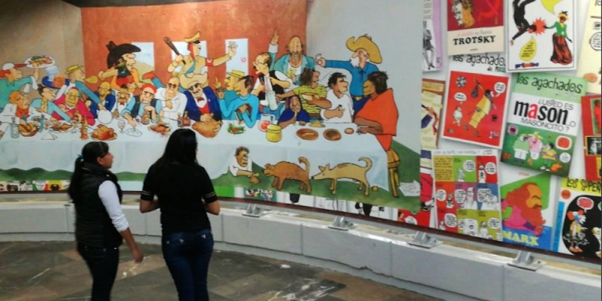 Inauguran museo de la Caricatura Mexicana en el Metro Zapata