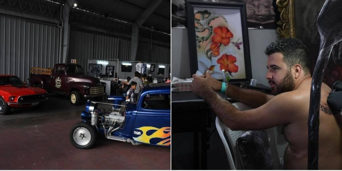 ¿Qué hacen en un solo lugar tatuadores y vehículos de colección?
