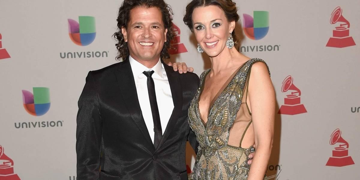 Así reaccionó Claudia Elena tras beso de fanática a Carlos Vives