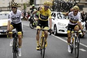 El británico Chris Froome en el Tour de France 2017