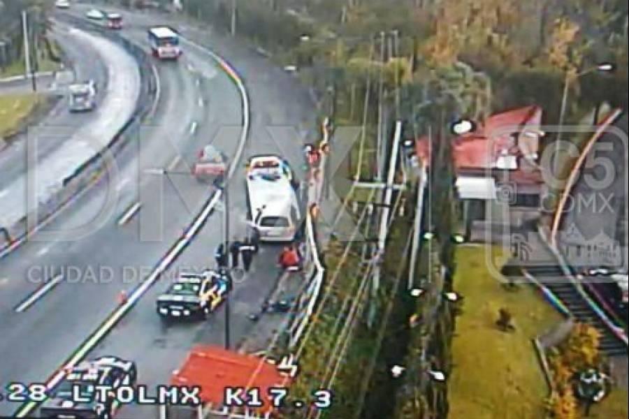 Cierran carreteras México-Querétaro y México-Toluca por accidentes vehiculares