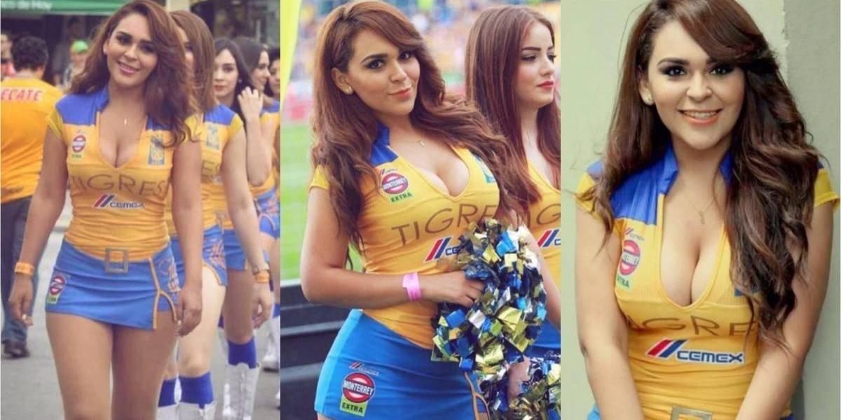 FOTOS. La sexy porrista que vuelve locos a los aficionados del fútbol mexicano