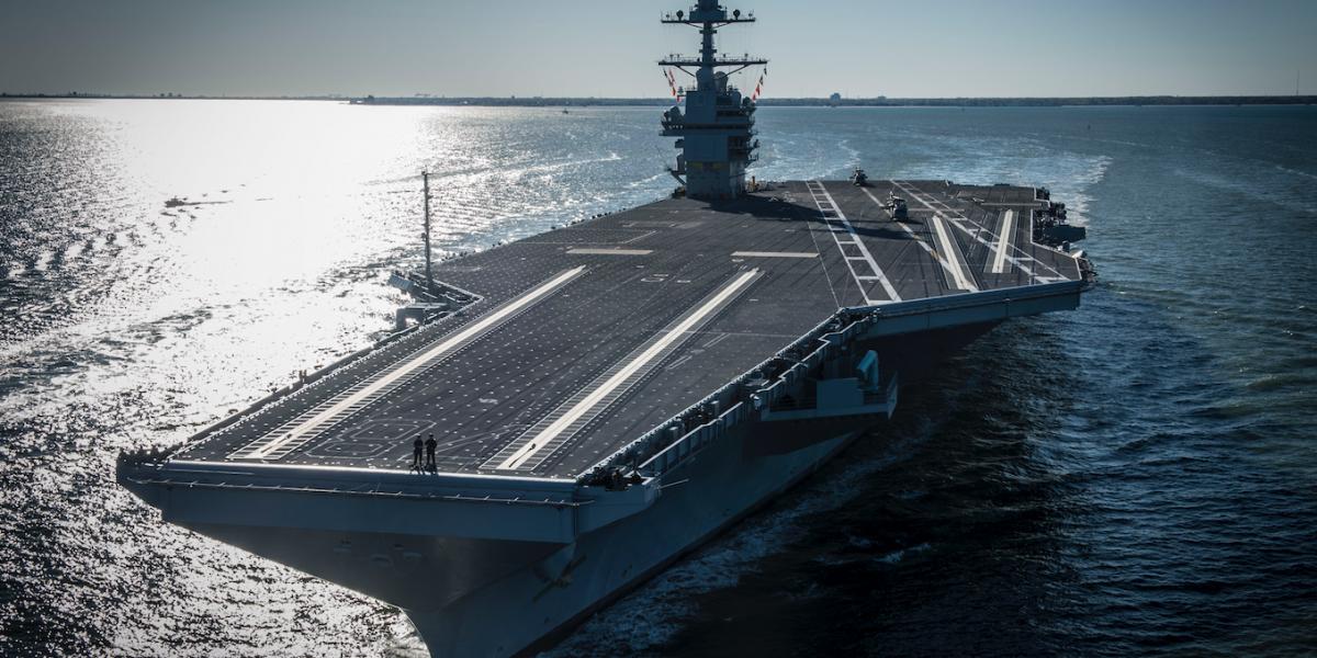 Así es el poderoso superportaaviones puesto en servicio por Trump