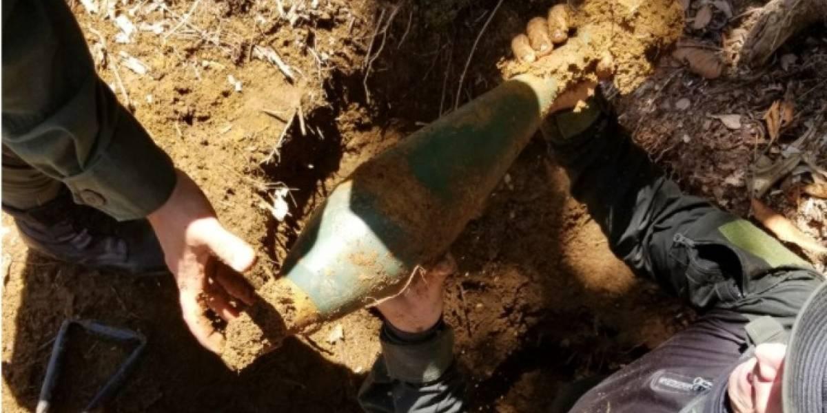 Apareció caleta con material de guerra en Antioquia