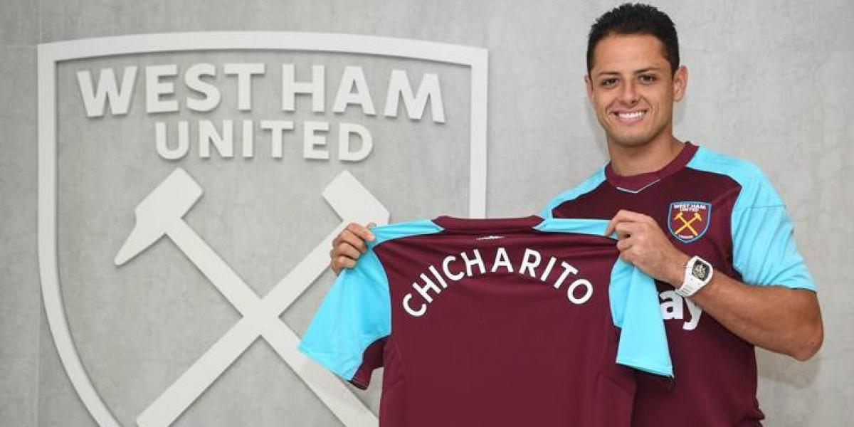 Chicharito Hernández ya se puso la playera del West Ham