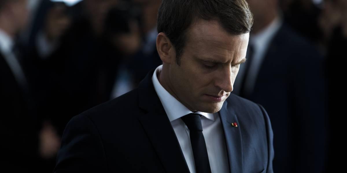 Cae en picada la popularidad de Emmanuel Macron, presidente de Francia
