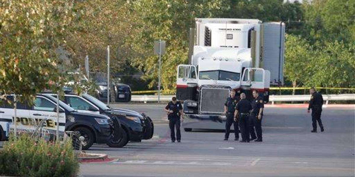 Confirman un guatemalteco fallecido en camión encontrado en frontera EE. UU.-México