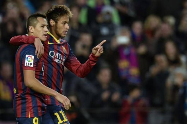 Alexis Sánchez y Neymar compartieron ataque en Barcelona / AFP