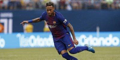 Neymar durante un partido con el Barcelona