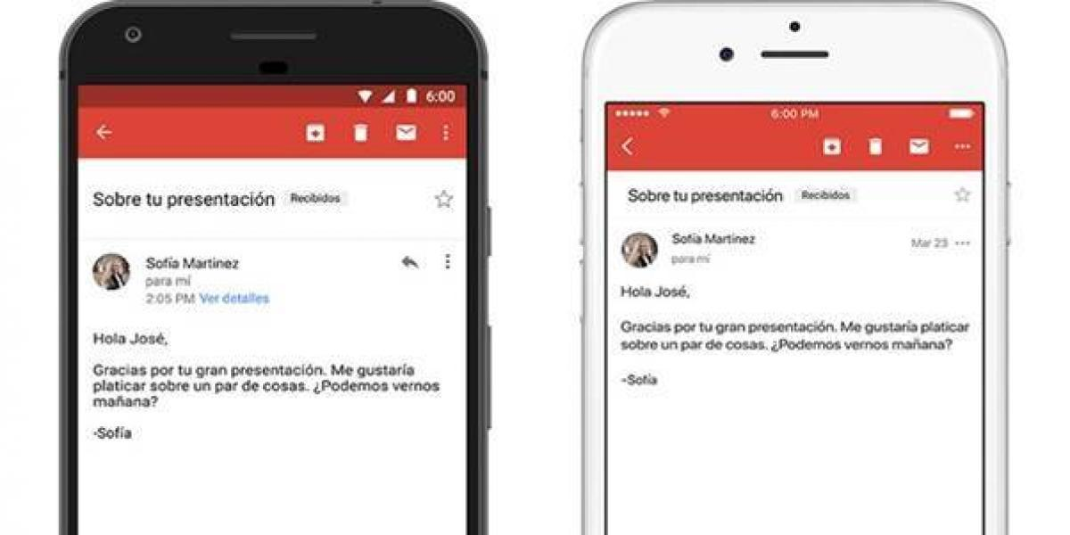 Google presenta respuesta inteligente para Gmail