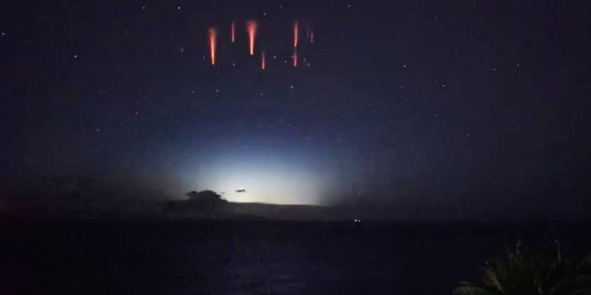 VIDEO. Graban misteriosas luces rojas en los cielos de Australia