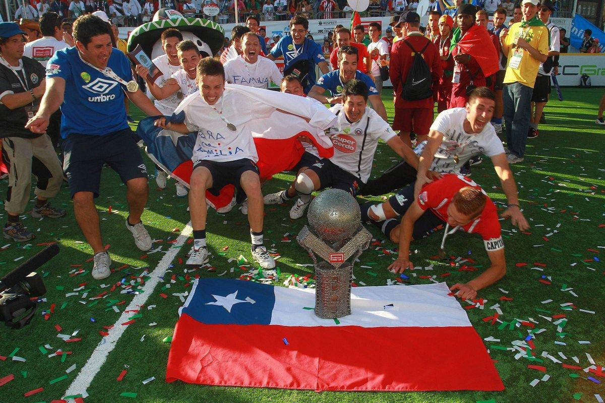 Selección chilena de fútbol calle (Agencia Uno)