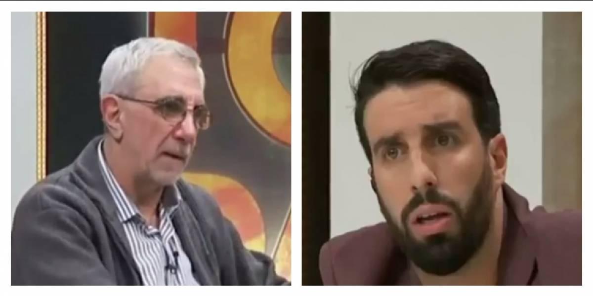 VIDEO: Periodista argentino casi llega a los golpes con compañero en pleno programa en vivo
