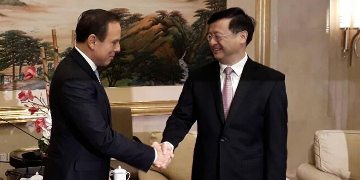Após viagem de Doria, doações de chineses a SP somam R$ 8,5 milhões