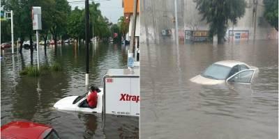 Lluvias causan severas inundaciones en principales avenidas de Guadalajara