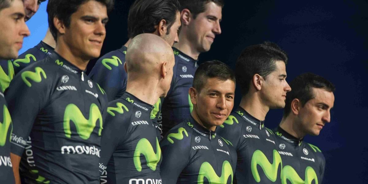 Tres colombianos en la preconvocatoria de Movistar para la Vuelta a España
