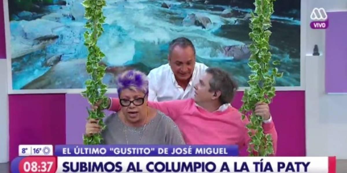 """El remix de la caída de Patricia Maldonado en """"Mucho Gusto"""" que la rompe en internet"""