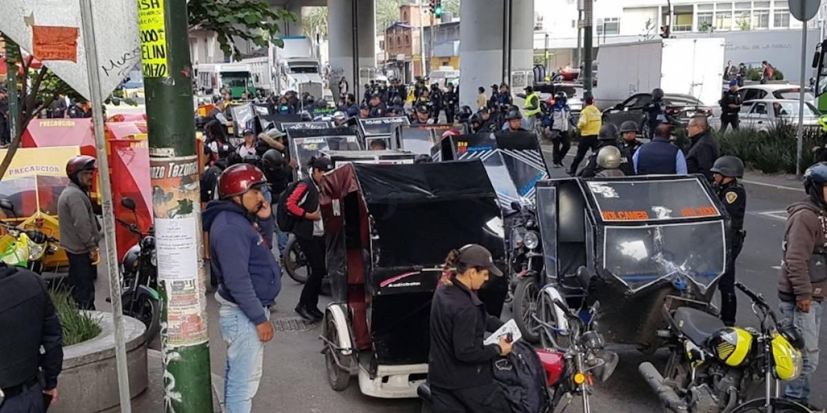 Remiten a 87 mototaxis al corralón en Tláhuac; descartan regularlos